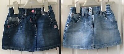 Gorgeous Twin Girls Mix And Match Denim Skirts From NEXT Age 1&1/2-2 GC.