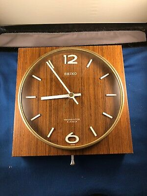 Antique SEIKO transistor wall clock Japan Retro