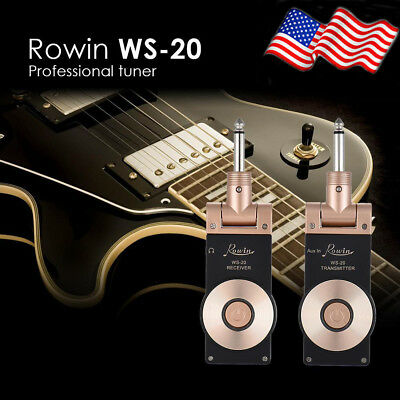 US Rowin WS-20 2.4G Wireless Rechargeable Electric Guitar Transmitter+Receiver