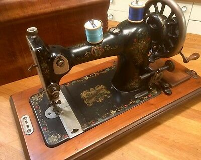 Tidy CWS Federation hand-cranked sewing machine. British-made by Jones in 1930.