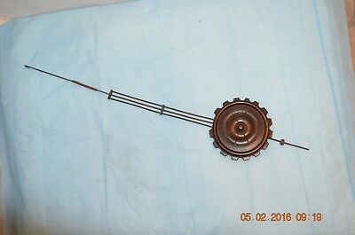 Antique LONG wall cuckoo clock pendulum for parts or project