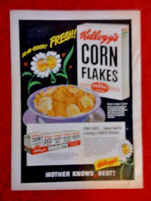 Original Vintage 1949 KELLOGG'S Corn Flakes and WESTINGHOUSE Magazine Print Ad