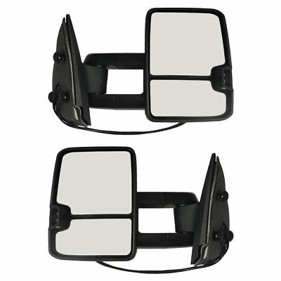 New Set of 2 Front Left and Right Side Towing Mirror For GMC Yukon 2000-2006