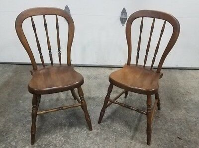 Nice Pair of Tell City Young Republic Farmhouse Chairs 2202 Andover 48. Sturdy!