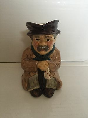 Vintage Collectable Roy Kirkham Hand Painted 'POOR MAN' Toby Jug