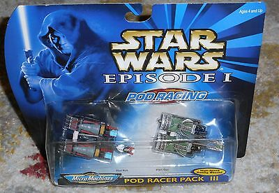 STAR WARS MICRO MACHINES Pod Racer Pack III Movie Episode 1 Racers Micromachines