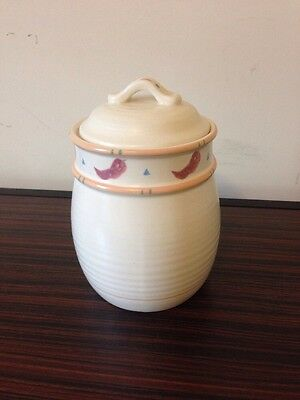 Treasure Craft CA USA TAOS Coffee Canister w Lid 6 5/8