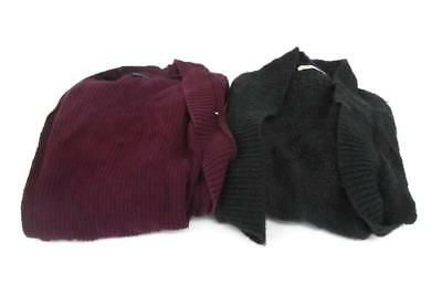 Lot of 2 Women's Cable Knit Thick Warm Sweaters Shrug Hollister American Eagle S
