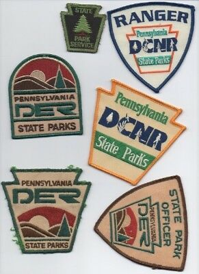 6 Pennsylvania State Park Service patches