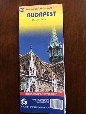 Budapest City Map  - Int'l Travel Maps -  Excellent Condition