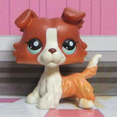 littlest Pet Shop LPS #1542 Brown Collie Dog Figure Toy