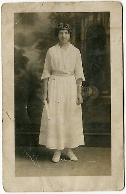 Vintage RPPC Real Picture Postcard Graduate Flapper Young Woman 1920s
