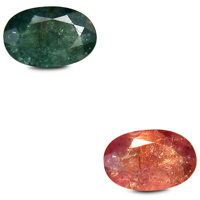 0.76 ct Dazzling Oval (6x4 mm) Un-Heated Color Change Alexandrite Loose Gemstone