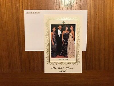 2016 Official White House Christmas Card From President Obama & The First Family