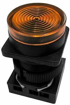 NEW GOULD Rundel CONTROLS AMBER Panel Indicator PILOT LIGHT H33 PR 120V 50//60 hz