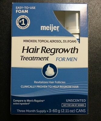 Minoxidil Hair Regrowth 5% Foam For Men 3 Month Supply