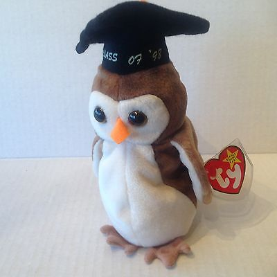 Ty Beanie Original Baby Wise the Owl NWMT