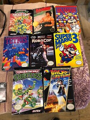 Nintendo NES Empty Box Lot Of 8 Game Boxes & Manuals +++More