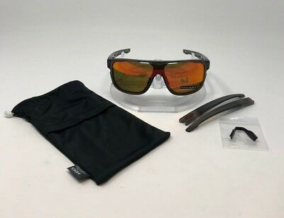 3f7b65091e0bd OAKLEY CROSSRANGE SHIELD Sunglasses Grey Smoke   Prizm Ruby Iridium ...