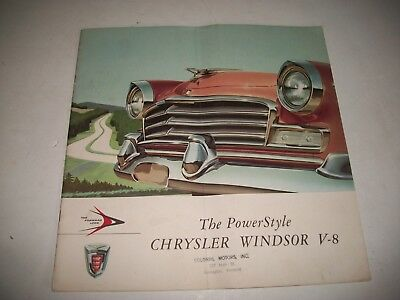 1956 Chrysler Windsor V-8 Sales Brochure