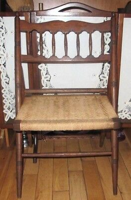 Rare Vintage Mid Century Folding Rope Chair Made In Spain