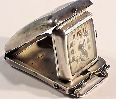 Antique Sterling Silver Swiss Watch / Travel Clock, Import London 1894