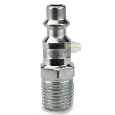 "Industrial 1/4"" Male NPT Air Compressor Hose Quick Coupler Plug Steel New"