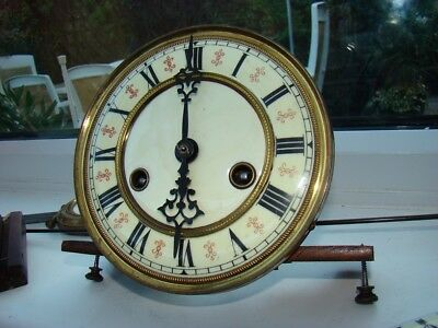 Gustav Becker 8 day movement for wall clock complete with pendulum etc working