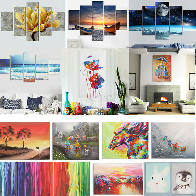 Abstract Modern Oil Painting Art Canvas Print Wall Home Decor Unframed Mix-Type