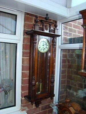 Vienna wall clock single weight in good working order T H movement