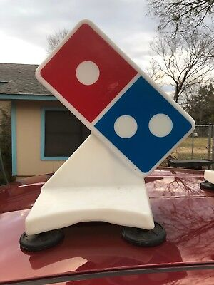 Domino's Pizza Car Roof Magnetic Mount Light Up Delivery Sign