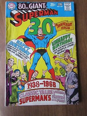 Superman #207 - 30th Anniversary of Superman - 80 Page Giant - June 1968