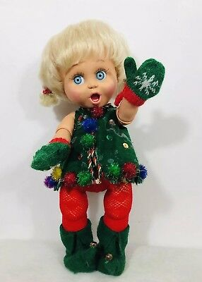 "Galoob Babyface ""So Surprised Susie"" Doll  (1990) Christmas Outfit"