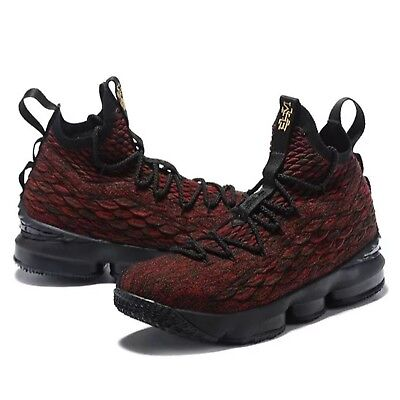 5f3b0fc8c94 SZ 9.5MEN S Nike LeBron 15 BHM XV Multicolor Black red History Month 897650  900