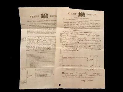 1800 LOT of TWO Old Documents