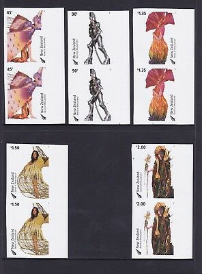 NZ10b) New Zealand 2004 Wearable Art set, SG 2701 – 2705, .Imperf Vertical Pairs