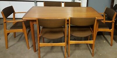 Vintage 1974 Teak Dining Room Set, w Hutch, & Bookcases Dyrlund made in Denmark