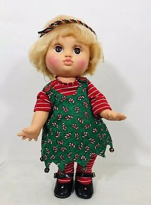 "Galoob Babyface ""So Loving Laura"" Doll Retired Collectible (1990) Xmas Outfit"