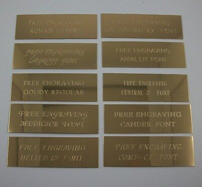 "Custom Engraved 3"" x 2""  Brass Trophy, Sign Name Plate ."