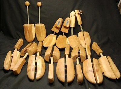 7 Pair Cedar Shoe Trees Stretchers Mens Large Lot Ready To Use