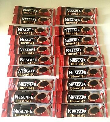 10 x Single Serve NESCAFE BLEND 43 COFFEE SACHETS 10 x 1.7gr October 2019 expiry