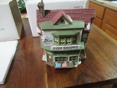 "Dept 56 Dickens' Village Series ""THE MERMAID FISH SHOPPE"""