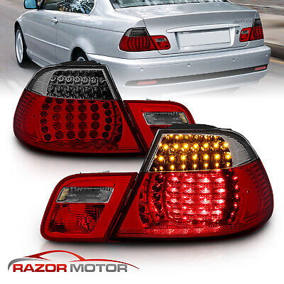 2000-2003 Red Smoke LED Tail Light Pair (Set) for BMW E46 325Ci/330Ci/M3 Coupe