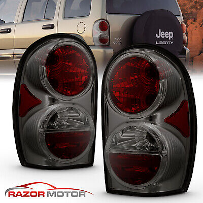 2002 2005 Replacement Smoke Tail Light Pair Set For Jeep Liberty Left