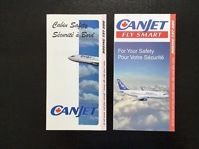 2 Canjet B737-200 Safety cards