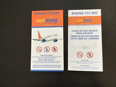 2 Sunwing B737 Safety cards (Canada)