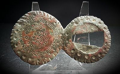Large Byzantine Buckle With Concentric Ring & Dot Design 6Th - 7Th Century A.d.