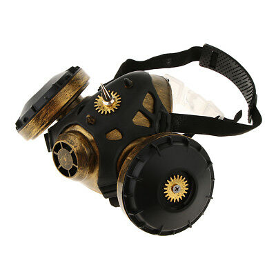 Retro Steampunk Respirator Gas Mask Halloween Party Costume Cosplay Props