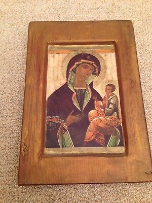 Antique Russian Icon of Mother of God