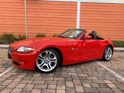2004 BMW Z4 Sport Package, 6 Speed, #4k BMW Z4 Roadster Bright RED Rare 6 Speed ONLY 34,000 miles